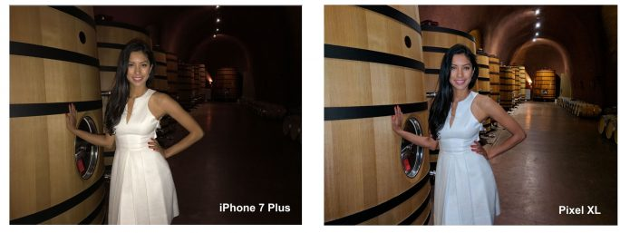 Kameravergleich: Pixel XL, iPhone 7 Plus bei schwachen Lichtverhältnissen mit Blitz (Bild: Vanessa Hand Orellana/CNET)