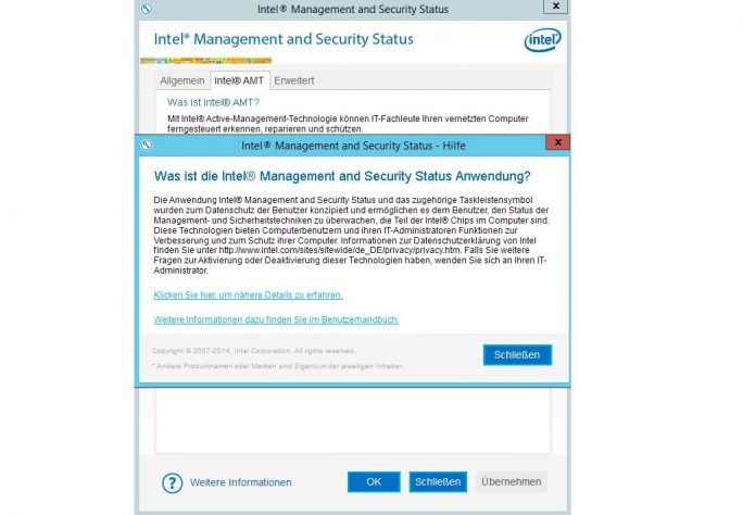 Als Überwachungslösung steht auf dem HPE ProLiant ML10 Gen9 die Intel Active Management Technology (AMT) zur Verfügung (Screenshot: Thomas Joos).