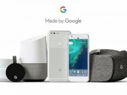"""Zusammen mit den Pixel-Smartphones vorgestellte Hardware """"Made by Google"""" (Bild: Google)"""