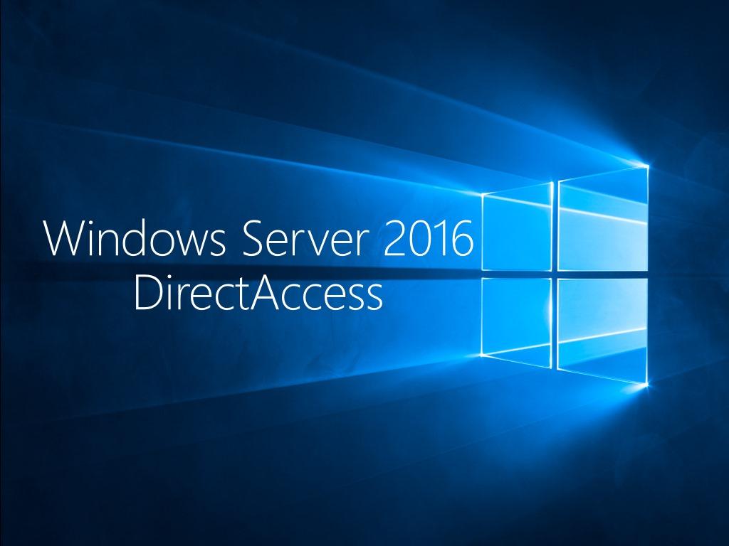 Ersatz Für Vpn Directaccess Mit Windows Server 2016 Und Windows 10