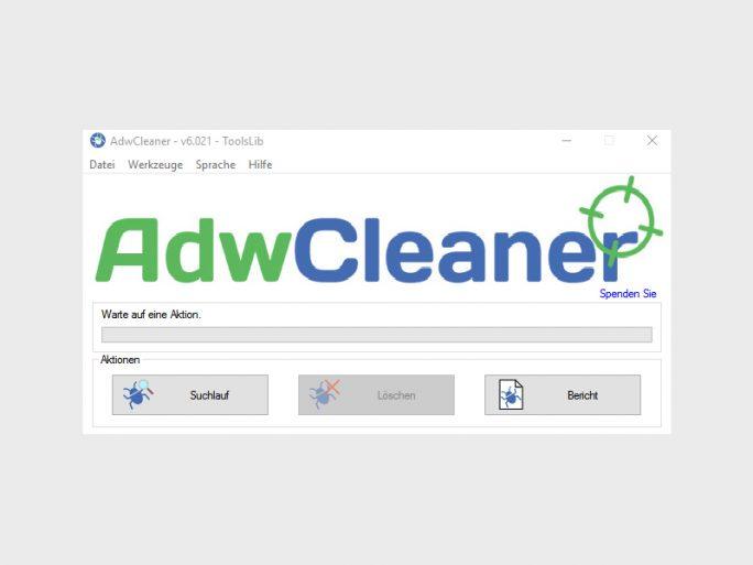 AdwCleaner (Screenshot: ZDNet.de)