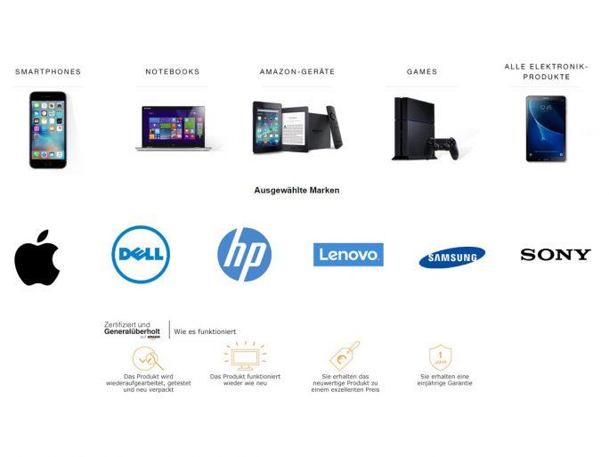 Amazon listet ab sofort auch generalüberholte Produkte  (Bild: Amazon).