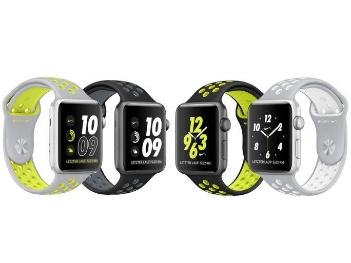 Die Apple Watch Nike+ gibt es in zwei Gehäusegrößen und vier verschiedenen Armbandausführungen (Bild: ZDNet/Apple)