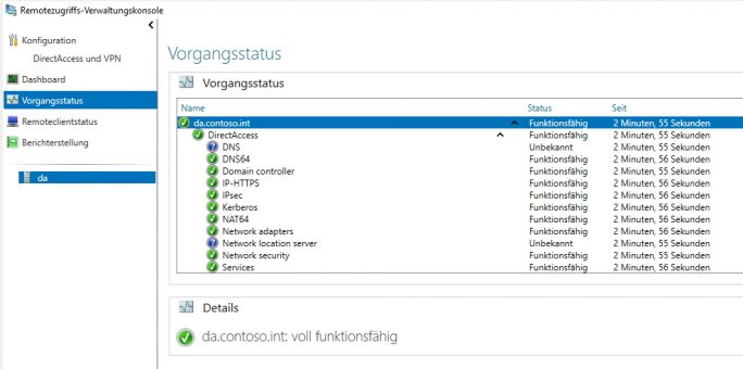 DirectAccess ist voll funktionsfähig (Screenshot: Thomas Joos).