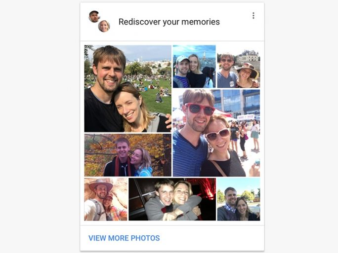 Gruppierung durch Gesichtserkennung in Google Fotos (Bild: Google)
