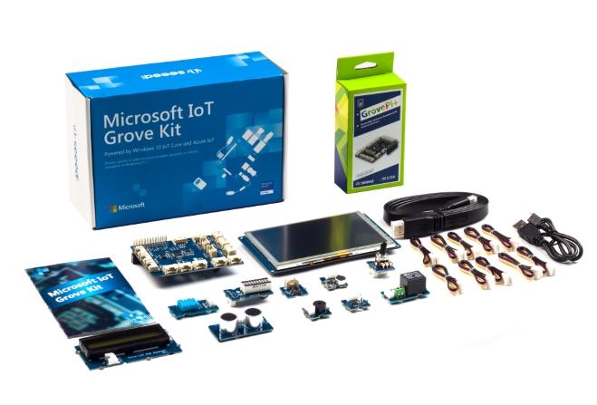Microsofts Grove Starter-Kit für IoT-Projekte. (Bild: Microsoft)