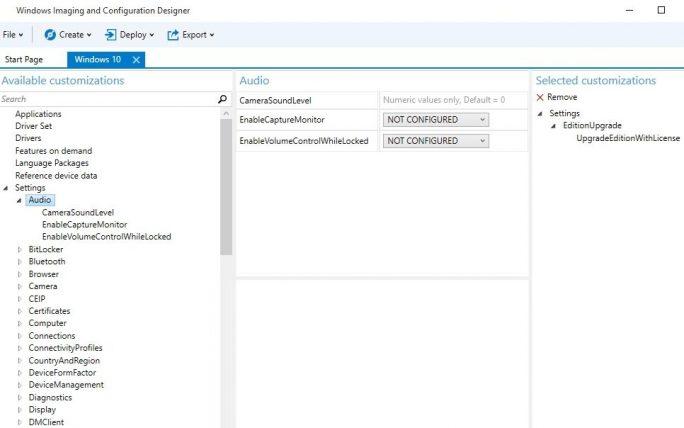 Im Windows Imaging and Configuration Designer werden die Einstellungen des WIM-Images angepasst (Screenshot: Thomas Joos).