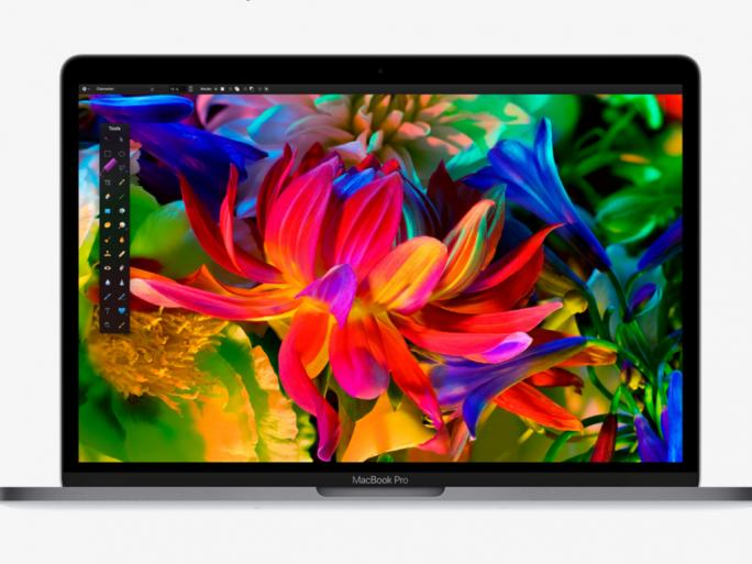 Das Display des MacBook Pro bietet den erweiterten Farbraum P3 (Bild: Apple).