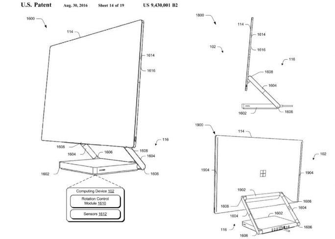 Microsoft-Patent für den Aufbau eines modularen All-in-One-Computer (Screenshot: MSPU)