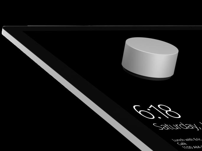 Das Surface Dial soll beim Surface Studio Vorgänge wie Zoomen und Navigieren intuitiver machen (Bild: Microsoft).