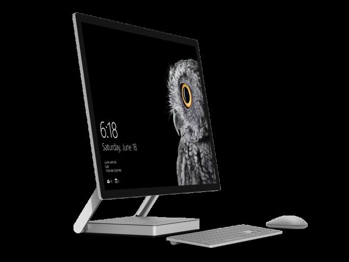Der All-in-one-PC Surface Studio verfügt über ein 28 Zoll großes Touch-Display (Bild: Microsoft).