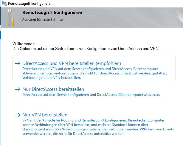 Die Einrichtung des VPNs erfolgt über einen Assistenten (Screenshot: Thomas Joos).