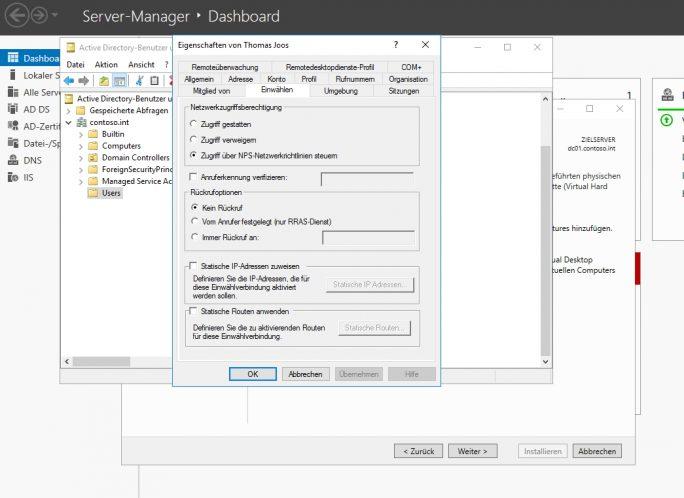 VPN-Server mit Windows Server 2012 R2 und Windows Server 2016 ...