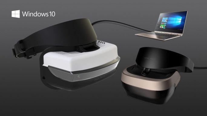 Für das Creators Update sollen Hersteller Virtual-Reality-Brillen zu Preisen ab 299 Dollar anbieten (Bild: Microsoft).