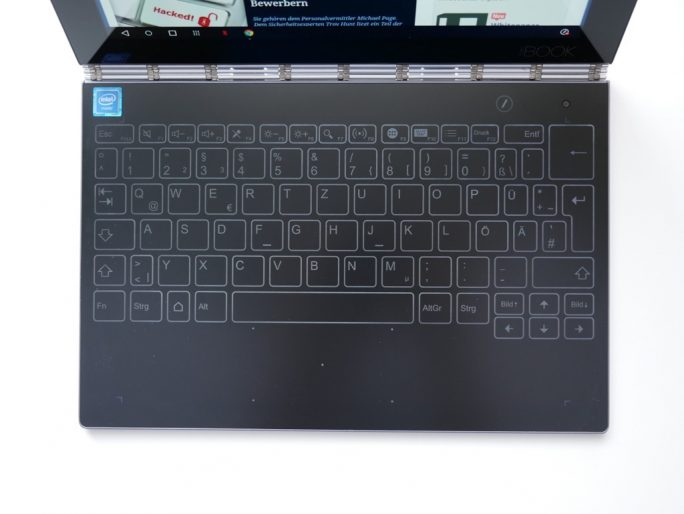 Lenovo Yoga Book Halo Keyboard (Bild: ZDNet)