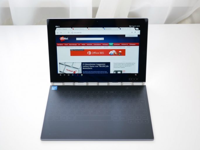 Lenovo Yoga Book als Notebook (Bild: ZDNet)