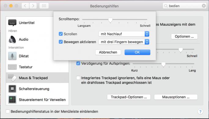 Trackpad: Fenster mit drei Fingern bewegen (Bild: ZDNet.de)