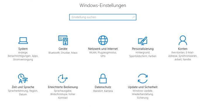 In der Einstellungs-App lässt sich Windows 10 an die eigenen Anforderungen anpassen (Screenshot: Thomas Joos).