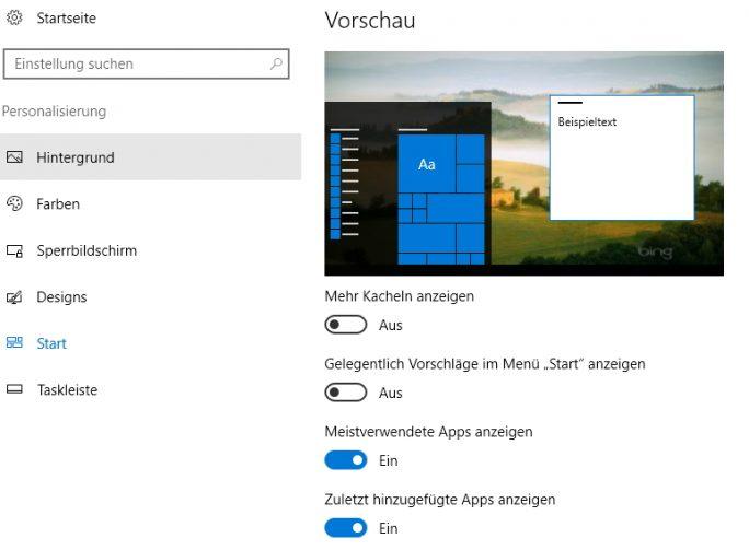 Windows 10 lässt sich in der Einstellungs-App über verschiedene Menüpunkte personalisieren (Screenshot: Thomas Joos).