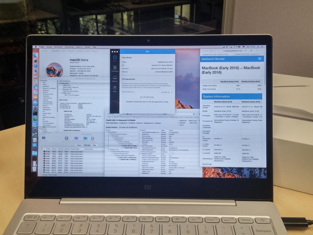 Installation von macOS 10 12 Sierra auf Xiaomi Mi Notebook Air 12 5