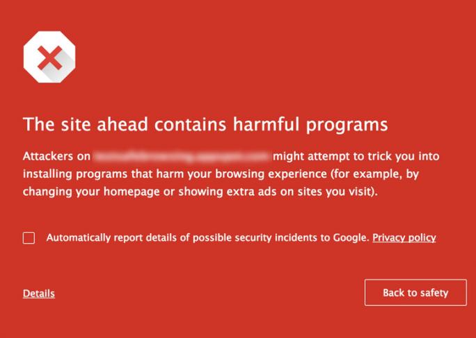 Google Safe Browsing (Bild: Google).