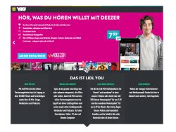 Das Deezer-Paket kostet bei Lidl You 7,99 Euro im Monat (Screenshot: ZDNet.de).