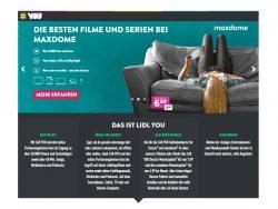 Das Maxdome-Paket ist für 6,99 pro Monat erhältlich (Screenshot: ZDNet.de).
