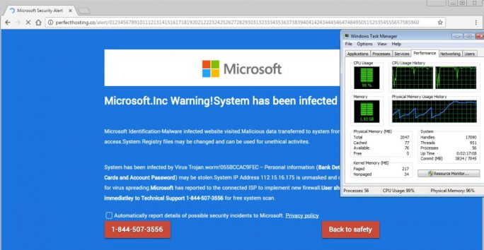 Malwarebytes warnte bereits im November, dass Tech-Support-Scammer vermehrt eine Lücke in HTML5 nutzen, um Opfer zum Anruf bei ihrer Nummer zu bewegen (Screenshot: Malwarebytes)