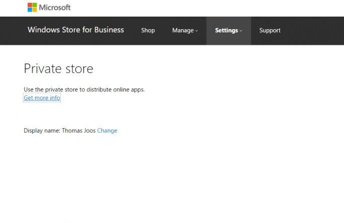 Im Windows Store für Unternehmen lassen sich auch eigene Apps zur Verfügung stellen (Screenshot: Thomas Joos).