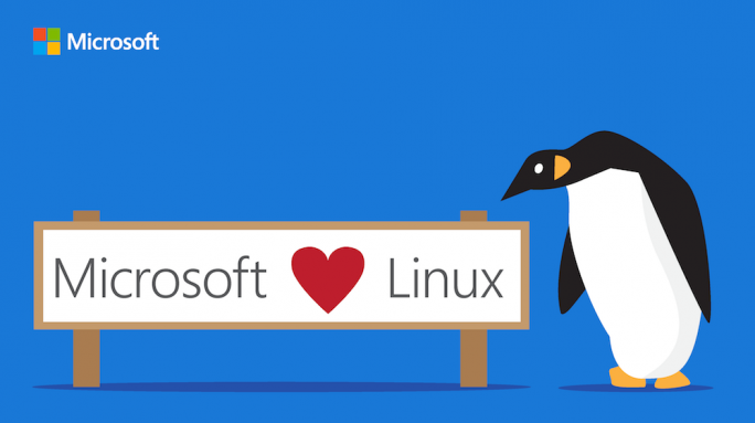 Microsoft loves Linux (Bild: Microsoft)