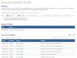 Microsoft bietet Details zu Sicherheitsupdates künftig über die Online-Datenbank Security Updates Guide an (Screenshot: ZDNet.de)