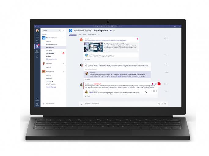Microsoft Teams steht ab sofort Business- und Enterprise-Abonnenten von Office 365 zur Verfügung (Bild: Microsoft).
