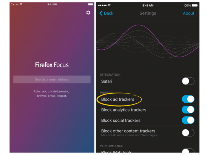 Firefox Focus (Screenshot: Mozilla)