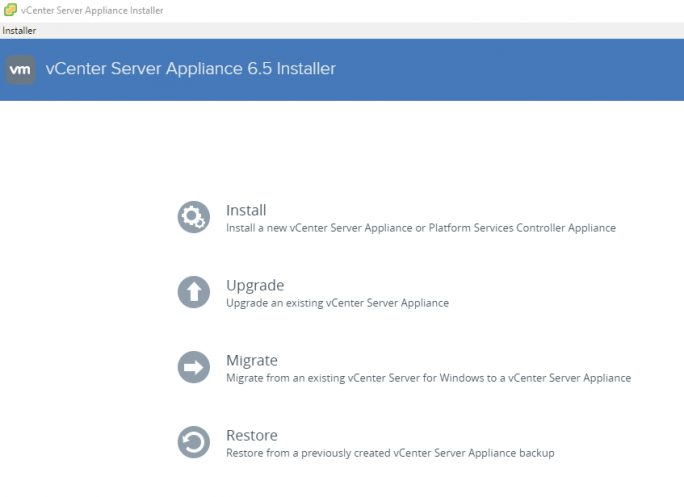 vSphere 6.5 wird auch mit einer neuen Version von vCenter ausgeliefert (Screenshot: Thomas Joos).