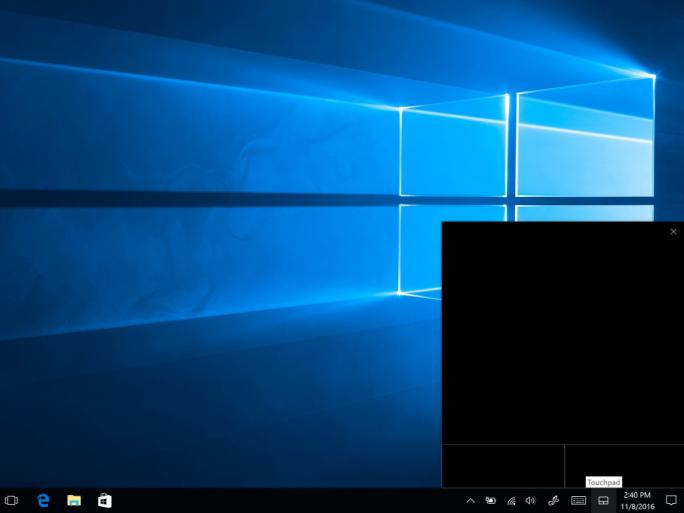 Microsoft hat Windows 10 um ein virtuelles Touchpad erweitert (Bild: Microsoft).