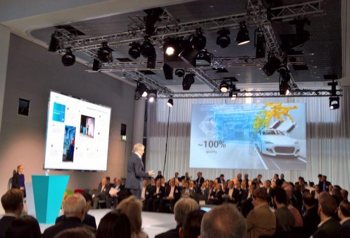 """""""Durch intelligente Algorithmen zu 100prozentiger Fertigungsqualität"""", Horst J. Kayser, Chief Strategy Officer, Siemens AG (Bild: Rüdiger."""