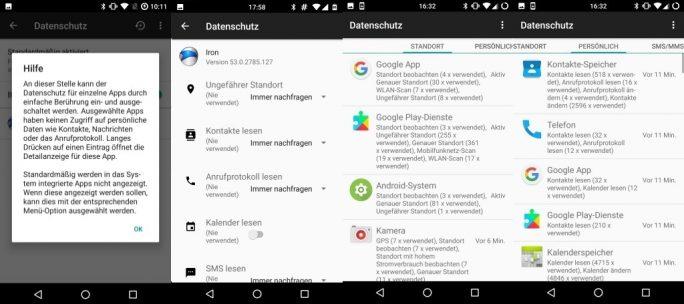 CyanogenMod 14.1: Datenschutzeinstellungen (Bild: ZDNet.de)