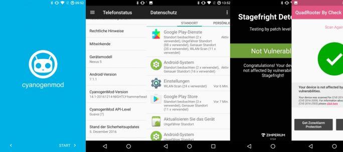 Nexus 5 mit CyanogenMod 14.1 auf Basis von Android 7.1.1 Nougat (Bild: ZDNet.de)