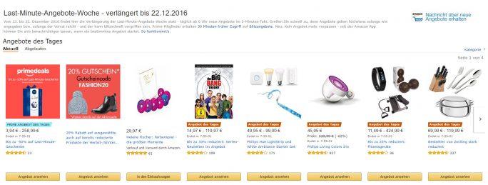 """Die aktuelle Aktion läuft noch bis einschließlich 22. Dezember. Ab 26. Dezember geht es dann mit der Aktion """"Winter Angebote"""" weiter (Bild: Amazon)"""