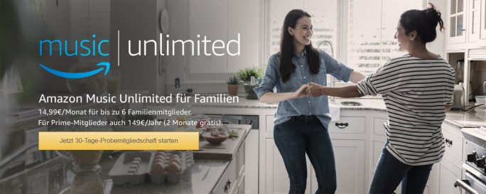 Amazon Music Unlimited für Familien (Screenshot: ZDNet.de)