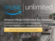 Amazon Music Unlimited: ab sofort auch als Familien-Mitgliedschaft erhältlich
