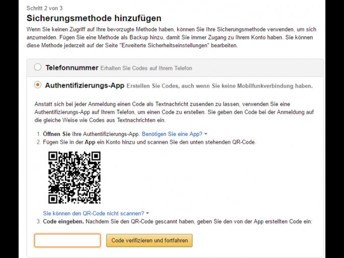 Bei der Einrichtung per Authentifizierungs-App ist für die Einrichtung der Sicherheitsmaßnahme die Angabe einer Mobilfunknummer erforderlich (Screenshot: ZDNet.de).