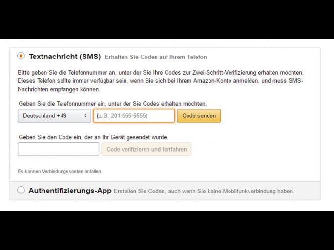 Zusätzlich zur bevorzugten Methode muss eine Sicherungsmethode angegeben werden (Screenshot: ZDNet.de).