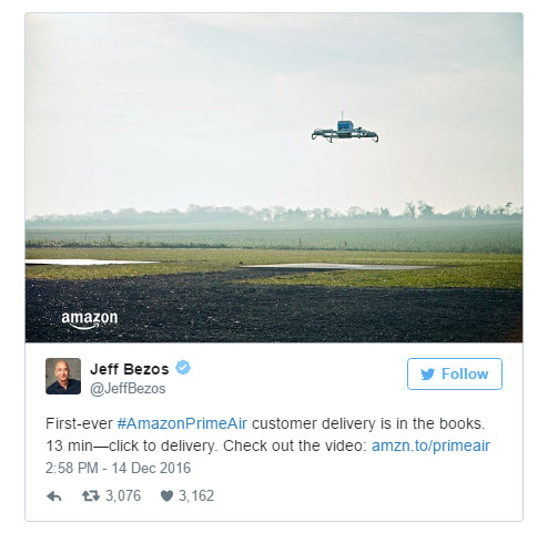 Jeff Bezos bei Twitter  (Screenshot: ZDNet.de)