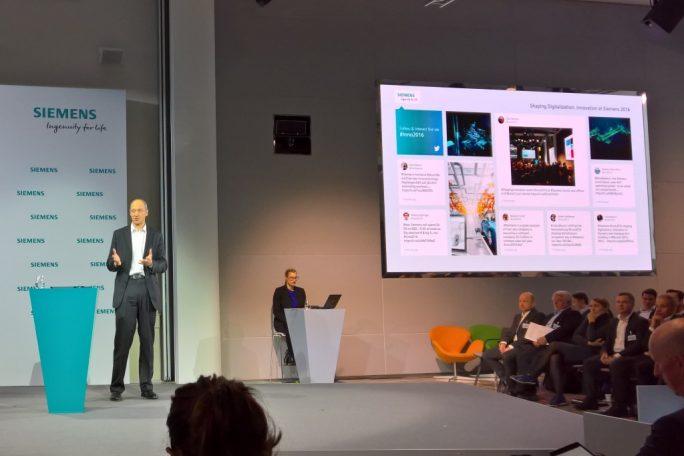 """""""Wir konzentrieren uns auf Elektrifizierung, Automatisierung und Digitalisierung"""", Roland Busch, frischgebackener CTO der Siemens AG (Bild: Rüdiger)."""