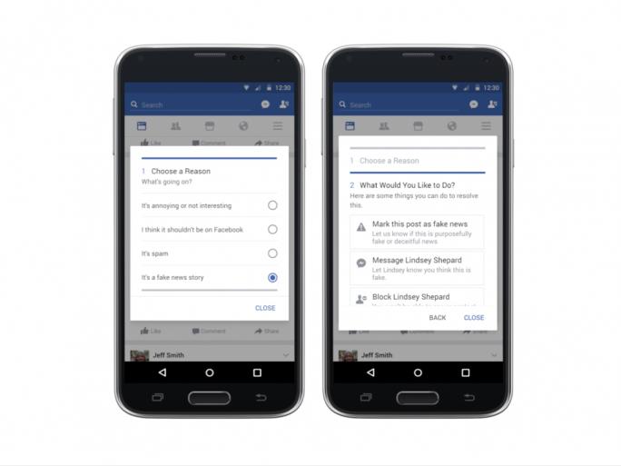 Facebook will das Melden falscher Nachrichten vereinfachen (Bild: Facebook).