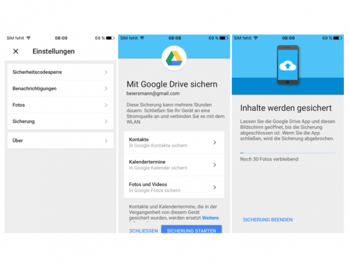 Google Drive für iOS (Screenshot: ZDNet.de)