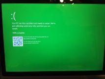 Green Screen of Death: Absturzbildschirm für Windows-10-Tester
