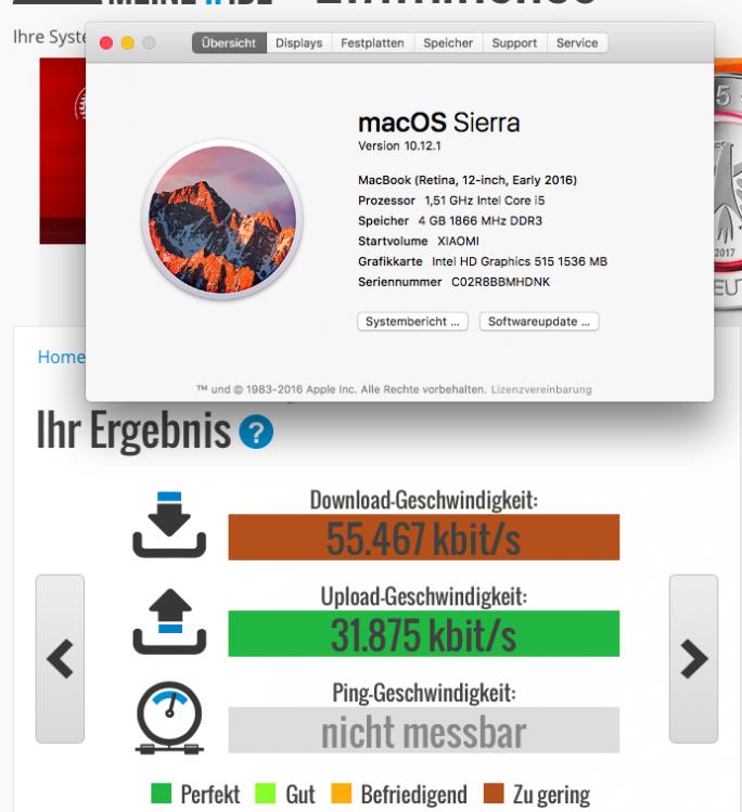 macOS 10.12 Sierra mit WLAN-USB-Stick (Bild: ZDNet.de)