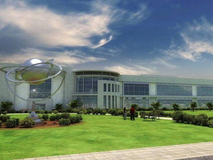 Rendering der geplanten Satellitenfabrik in Florida (Bild: OneWeb)